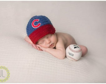 Baby Chicago Cubs inspired Baseball Cap, Hat, Made to Order