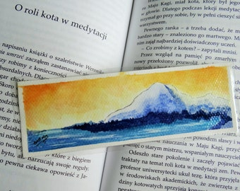 Lake and mountain bookmark [ORIGINAL ART]