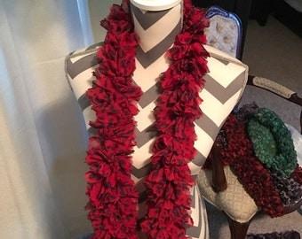 Crochet Ribbon Ruffle Fashion Scarves