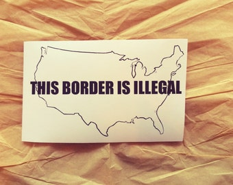Pro-Immigration, Anti-Imperialist Sticker