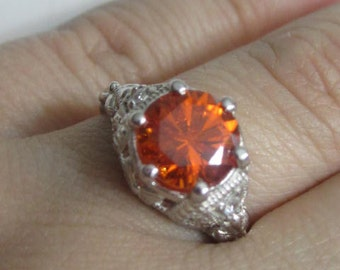 Antique Engagement Ring Vintage Ring Art Deco Ring Victorian Engagement Ring Vintage Style Engagement Ring Citrine