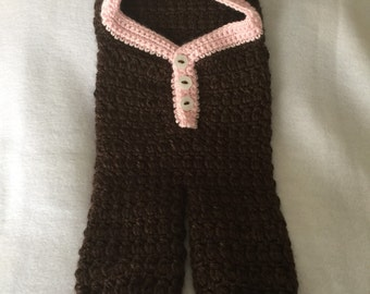 Crocheted Baby Girl Car Seat Cocoon