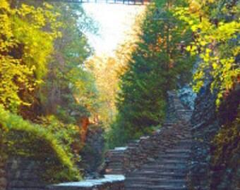 Nature Photography-Waterfall Print Series, Watkins Glen Park-New York