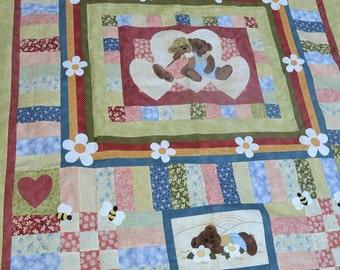 Teddy bear quilt top