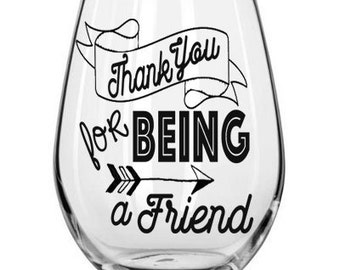 Thank You For Being A Friend The Golden Girls Stemless Wine Glass With Graphic Golden Girls Mug Gift For Best Friend