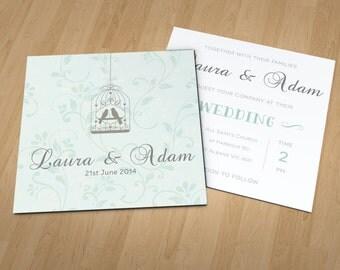 Birdcage Wedding Stationery Set