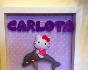 Hello Kitty custom felt in dolphin picture