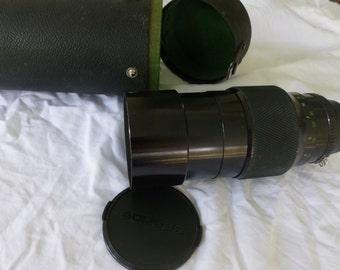 Vintage Soligor Zoom Lens 1-200mm F 2.8 Nikon TeleAuto MC and Case