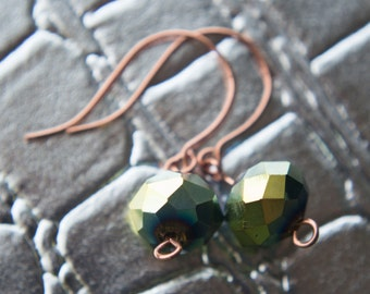 Green Iridescent Earrings!