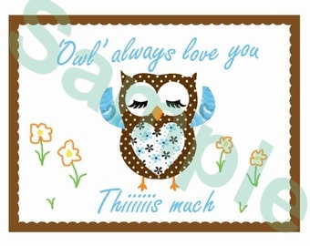 Owl always love you thiiis much,Printable download,Valentine's day card,Wedding,Anniversary,Birthday