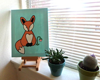 Cute Fox Painting- Perfect for Nursery