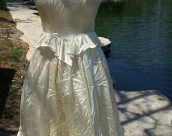 Cream Spaghetti Strap Summer Dress