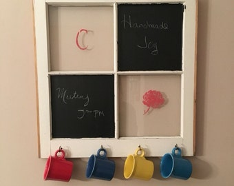 Chalkboard Reclaimed Window Coffee Cup Holder