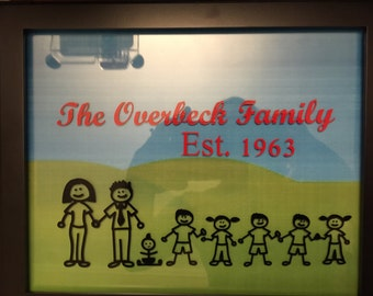 Personalized stick people family, Custom made