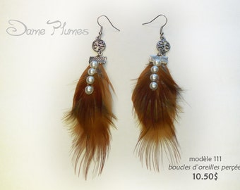natural feathers earrings