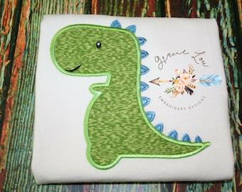 Dinosaur embroidery design, dinosaur appliqué design, baby dino appliqué, boy appliqué design, boy embroidery design, dino, 4, 5, 6 in frame