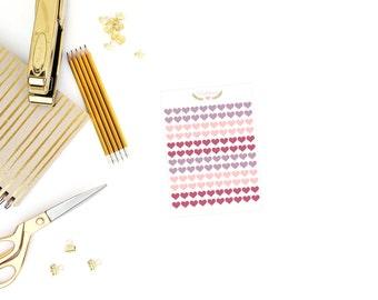 Burgundy heart stickers