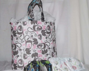 Elephant tote/diaper bag
