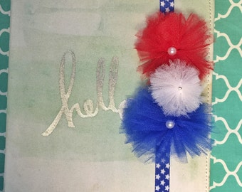 Patriotic themed planner / notebook band