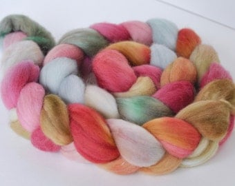 Cottage Calico on BFL Roving
