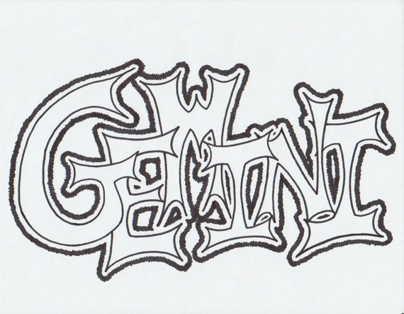 graffiti coloring pages leo - photo#16