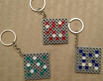 Minecraft Diamond, Redstone, & Lapis Blocks - Keychain set of 3