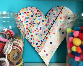 Hand-painted confetti heart