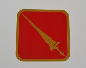 "3"" FFXIV Lancer Class / Job List Decal, Yeti Decal, Car Decal, Laptop Decal, Beer Mug Decal - Oracal 651"