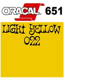 Oracal 651 Vinyl Light Yellow (022) Adhesive Vinyl - Craft Vinyl - Outdoor Vinyl - Oracle 651