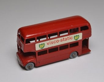 Rare Collectible Matchbox Vehicle, Number 5C Routemaster Bus, 1961, Grey Wheels, Vintage Matchbox Toys, 1960s Collectible Metal Cars
