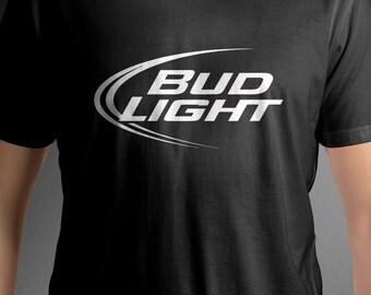 Bud Light logo shirt beer tee C45