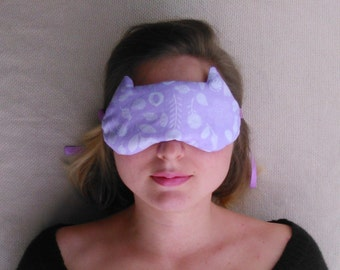 Eye Pillow Lavender, Aromatherapy Eye Pillow,  Relaxation pillow for yoga and meditation, Lavender eye mask, Cat mask girlfriend