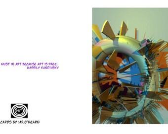 The Donut, (3D Art) 5x5 card