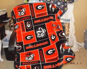 GA Bulldogs Stroller Blanket