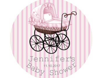 Personalized Baby Shower Tags Baby Shower Stickers Favor Labels Personalized Girl Gift Stickers Baby Girl Baby Shower Favor Tags