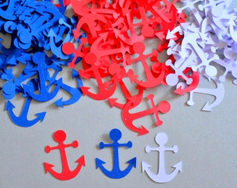 Anchor Confetti Nautical Theme Party Nautical Confetti Anchor Party Decorations Bridal Shower Confetti Baby Shower Nautical Birthday Party