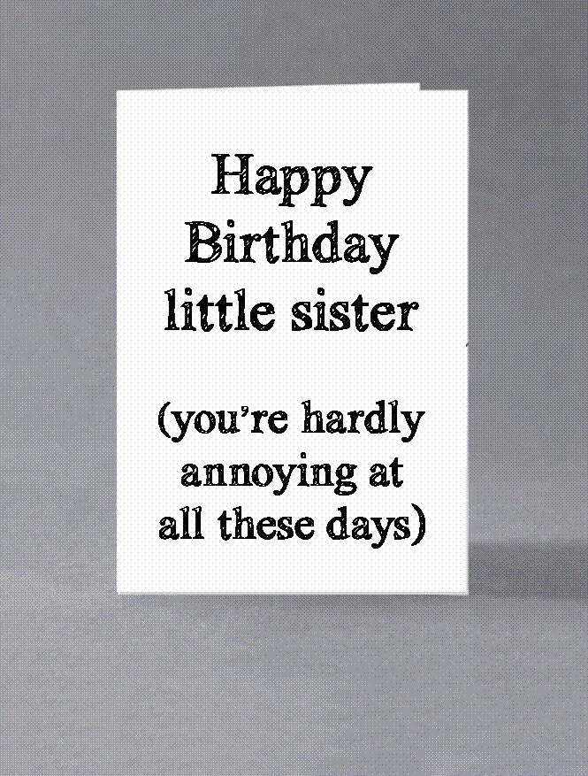 Birthday Cards Brother From Sister ~ Brother sister birthday card happy little
