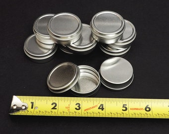 1/2 Oz (0.5 Oz)  Round Metal Tin Containers for lip balm,crafts,storage,survival