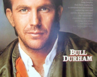 Bull Durham 23x35 Movie Poster 1988 Kevin Costner