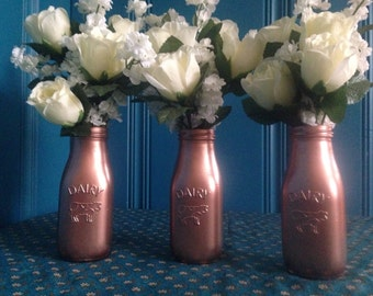 Country Chic copper bottles