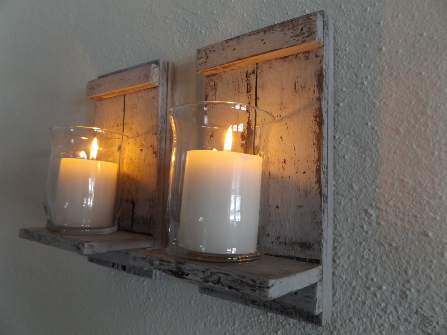 Wood candle sconce white candle sconce candle wall sconce zoom amipublicfo Image collections