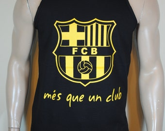 FC Barcelona Mens Tank Top Mes Que Un Club Tee