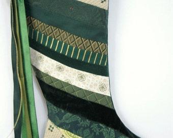 Handmade Patchwork Christmas Stocking (item RB168)