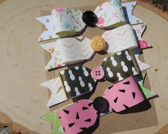 set of 4 paper bows