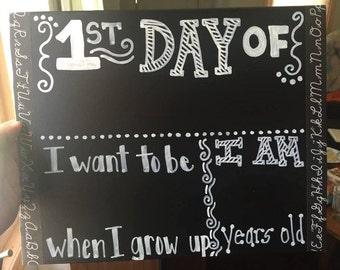 1st Day Of ... Chalkboard Foam Board  /  11 x 14 inches