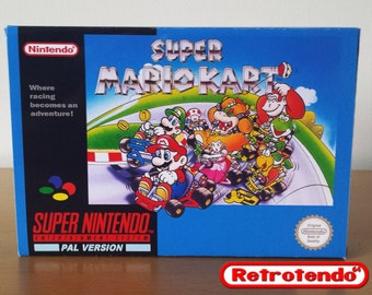 Super Mario Kart SNES Super Nintendo Reproduction Box & Inner Tray Only No Game PAL Verion