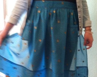 Blue Evening Hostess apron