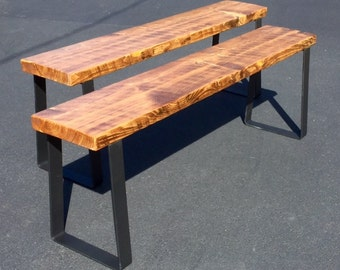 FREE SHIP Rustic Reclaimed Barnwood Bench