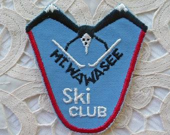 Lost Ski Area Patch  ...  Vintage Mt Wawasee Ski Club --  Indiana , Mount Wawasee Souvenir