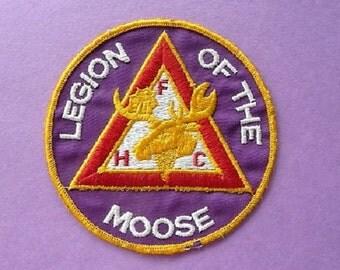 Legion of the Moose  --  Faith , Hope , Charity ...  Big Vintage FHC Collectible Jacket Souvenir Patch